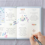 Weekly plan - ICONIC Bubbly dateless weekly diary planner