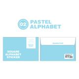 Pastel Alphabet - Wanna This Square Alphabet Number paper sticker set
