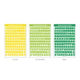 Basic Alphabet - Wanna This Square Alphabet Number paper sticker set