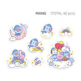 MANG - BT21 Dream baby clear sticker flake pack
