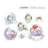 CHIMMY - BT21 Dream baby clear sticker flake pack