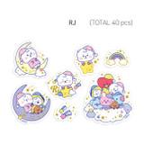 RJ - BT21 Dream baby clear sticker flake pack