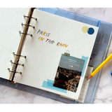 Usage example - Jam Studio Color wide A6 6 ring grid note paper refill set
