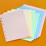 A - Jam Studio Color wide A6 6 ring grid note paper refill set