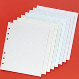 B - Jam Studio Color wide A6 6 ring grid note paper refill set