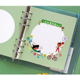 Usage example - Jam Studio Circle grid wide A6 6 ring notepaper refill set