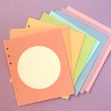 Soft Circle - Jam Studio Circle grid wide A6 6 ring notepaper refill set