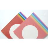 Jam Studio Circle grid wide A6 6 ring notepaper refill set
