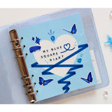 Usage example - Jam Studio Pastel heart grid wide A6 6 ring paper refill set