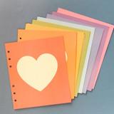 Jam Studio Pastel heart grid wide A6 6 ring paper refill set