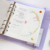 Usage example - Jam Studio Daily time plan wide A6 6 ring paper refill set