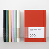 Indigo Prism 200 hardcover grid notebook with elastic band