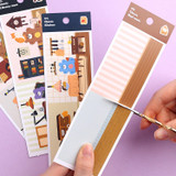 Usage example - Wanna This Classic interior removable paper sticker seal