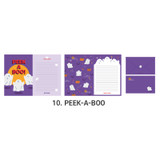 10 Peek-a-boo - ICONIC Merry letter and envelope set