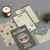 12 Friends - ICONIC Merry letter and envelope set