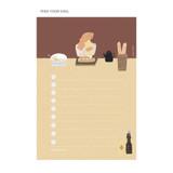 Feed Your Soul - SOSOMOONGOO Sojak5 Happy hobby memo checklist notepad