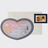 You are my better half - SOSOMOONGOO Sojak5 Happy hobby message card and envelope set