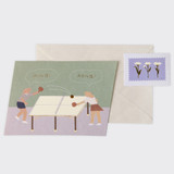 Ping! Pong! - SOSOMOONGOO Sojak5 Happy hobby message card and envelope set