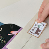 Sticker seal - SOSOMOONGOO Sojak5 Happy hobby message card and envelope set