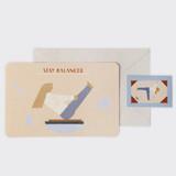 Stay balanced - SOSOMOONGOO Sojak5 Happy hobby message card and envelope set