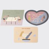 SOSOMOONGOO Sojak5 Happy hobby message card and envelope set