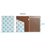 Brown - Monopoly Brown and friends pocket file documents holder