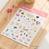 01 Home party - Byfulldesign At home useful deco sticker sheet set ver2