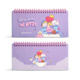 BT21 Dream baby wire bound dateless weekly desk planner