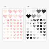 Option - PLEPLE Love glitter removable deco sticker seal