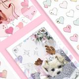 Usage example - PLEPLE Love glitter removable deco sticker seal