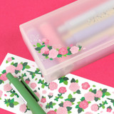 Usage example - Wanna This Forest's rose paper glitter sticker