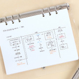 05 Grid 3 mm - Wanna This Notebook refill papers for A5 size 6 ring binder