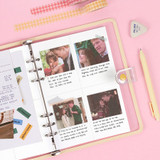 11. Grid 4 Divided - Wanna This Diary refill papers for A5 size 6 ring binder