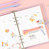 07. Monthly - Wanna This Diary refill papers for A5 size 6 ring binder