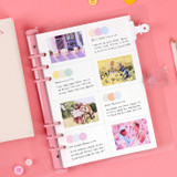 12. Grid 8 Divided - Wanna This Diary refill papers for A5 size 6 ring binder