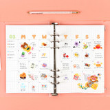 08 Grid Monthly - Wanna This Diary refill papers for A5 size 6 ring binder
