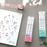 Package - ICONIC Double color line in one pen set of 3