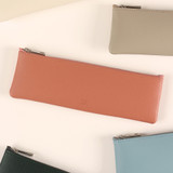 Dash And Dot Be simple synthetic leather zipper pencil case