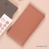 Blooming Rose - Dash And Dot Be simple synthetic leather zipper pen pouch