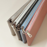 Zipper pouch  - Dash And Dot Be simple synthetic leather zipper pen pouch