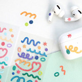 Usage example - ICONIC Confetti glitter hologram removable sticker pack