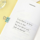 Finishing - PAPERIAN Challenge monthly goal planning tracker notebook