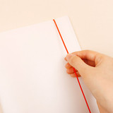 Elastic band closure - Basic 20 rings sticker organizer book with Alphabet stickers