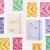 Basic 20 rings sticker organizer book with Alphabet stickers