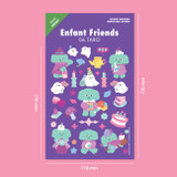 Size - Second Mansion Enfant friends removable sticker 01-08