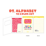 Alphabet - Wanna Tahis Crayon Alphabet number 12 colors paper sticker set