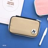 Beige - Mungunyang zip around pencil case pouch