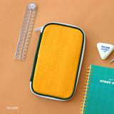 Yellow - Mungunyang zip around pencil case pouch