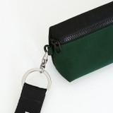D ring - Indigo Mungunyang triangle zipper pencil case pouch