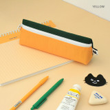 Yellow - Indigo Mungunyang triangle zipper pencil case pouch